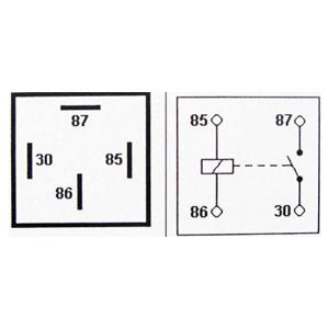 Relay 4-pin 12v 30A
